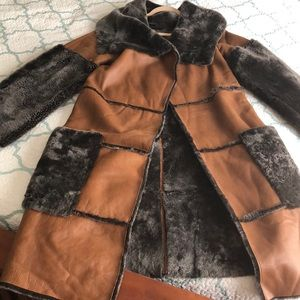 A beautiful leather Thomas Wylde winter coat